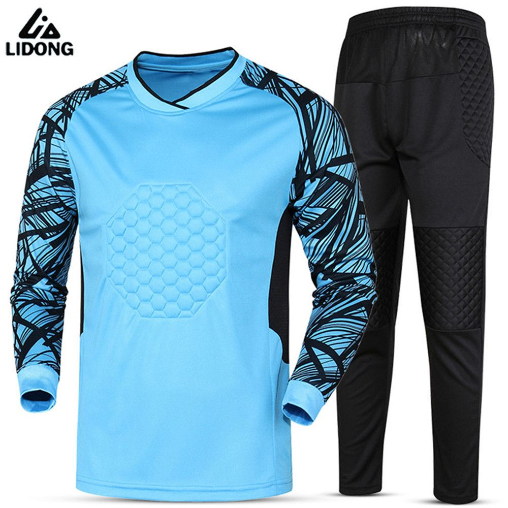 2fb6827eaa3 Buy 2017 Quick Dry Soccer Goalkeeper Jerseys Set Mens Sponge Football Long  Sleeve Goal Keeper  Goalkeeper  Jerseys