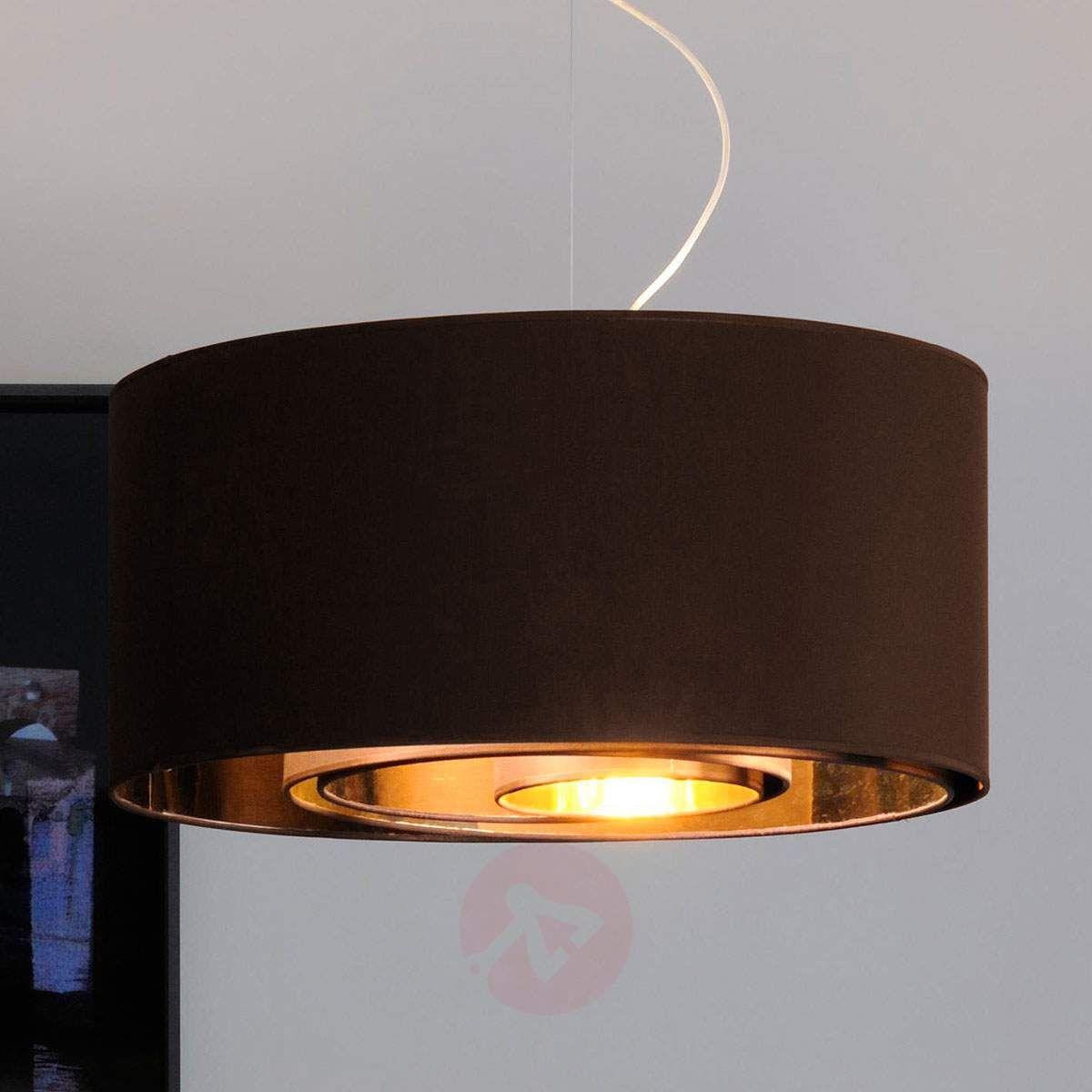 Lampa Wisząca Circles 65 Cm Brąz Złota Lampy Wiszące W