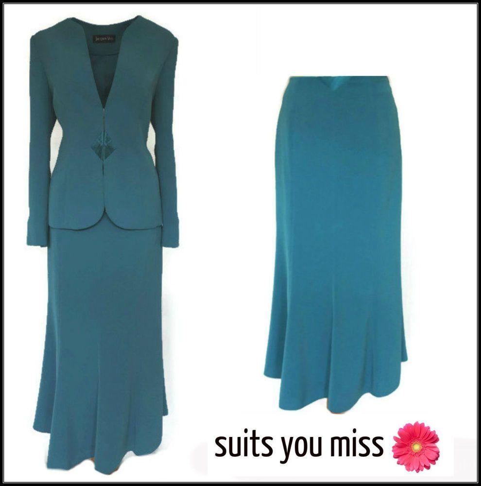 Ladies womens jacques vert skirt suit motb wedding races cruise uk ...