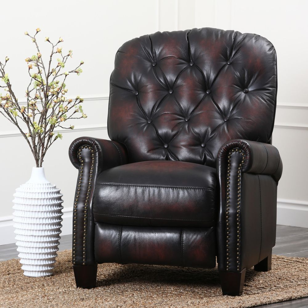 Abbyson Camden Hand Rubbed Leather Pushback Recliner | Overstock.com Shopping - The Best Deals & Abbyson Camden Hand Rubbed Leather Pushback Recliner | Overstock ... islam-shia.org