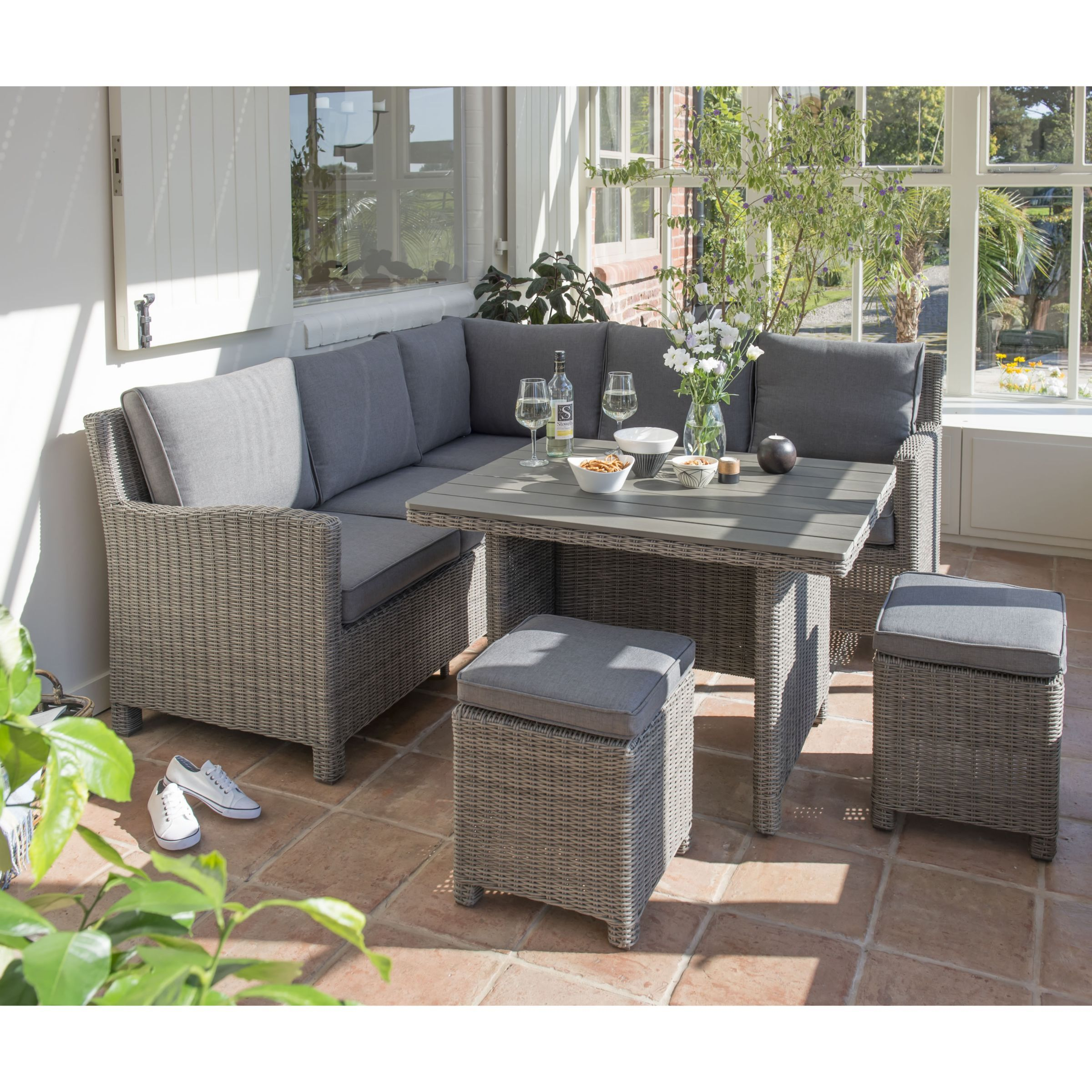 KETTLER Palma 9 Seater Garden Mini Corner Table and Chairs Set