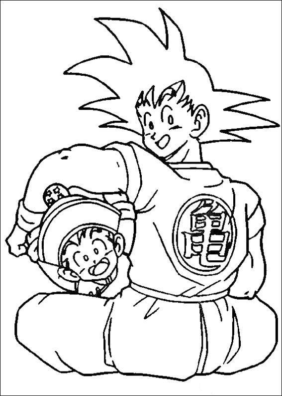 coloriage dessins dragon ball z 87 - Dessin De Dragon Ball