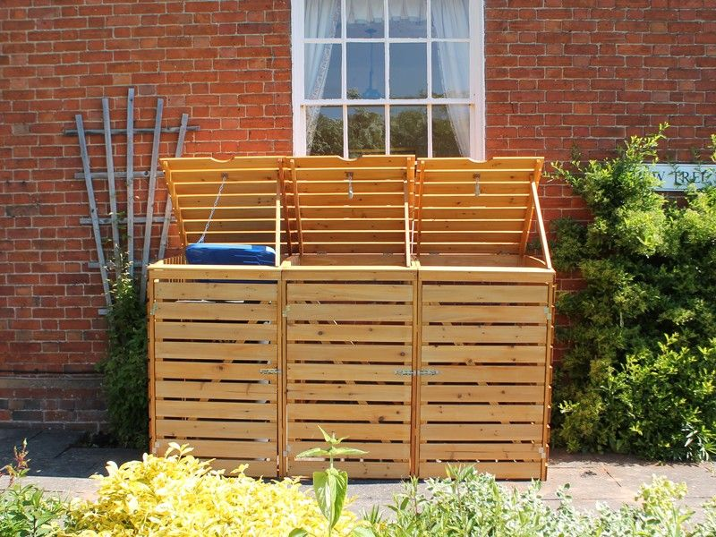 Wheelie Bin Storage Double Wheelie Bin Storage Triple