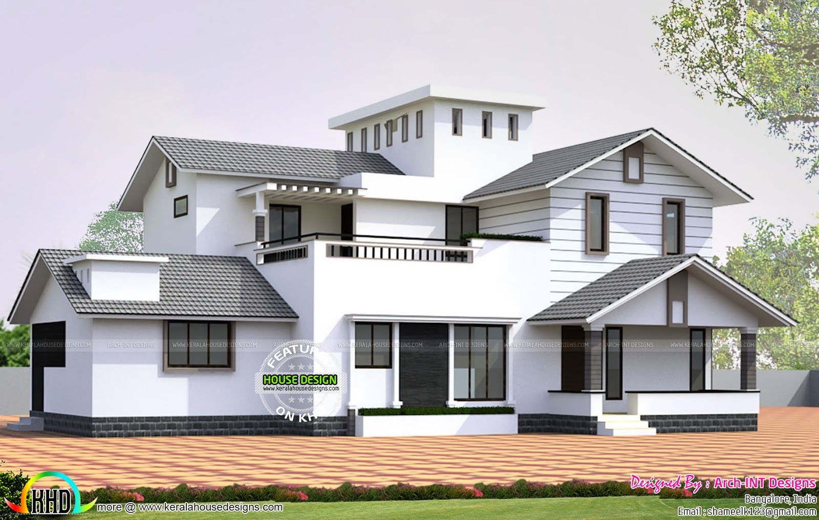 House plan by Arch-INT Designs, Bangalore | Kerala, Arch and House