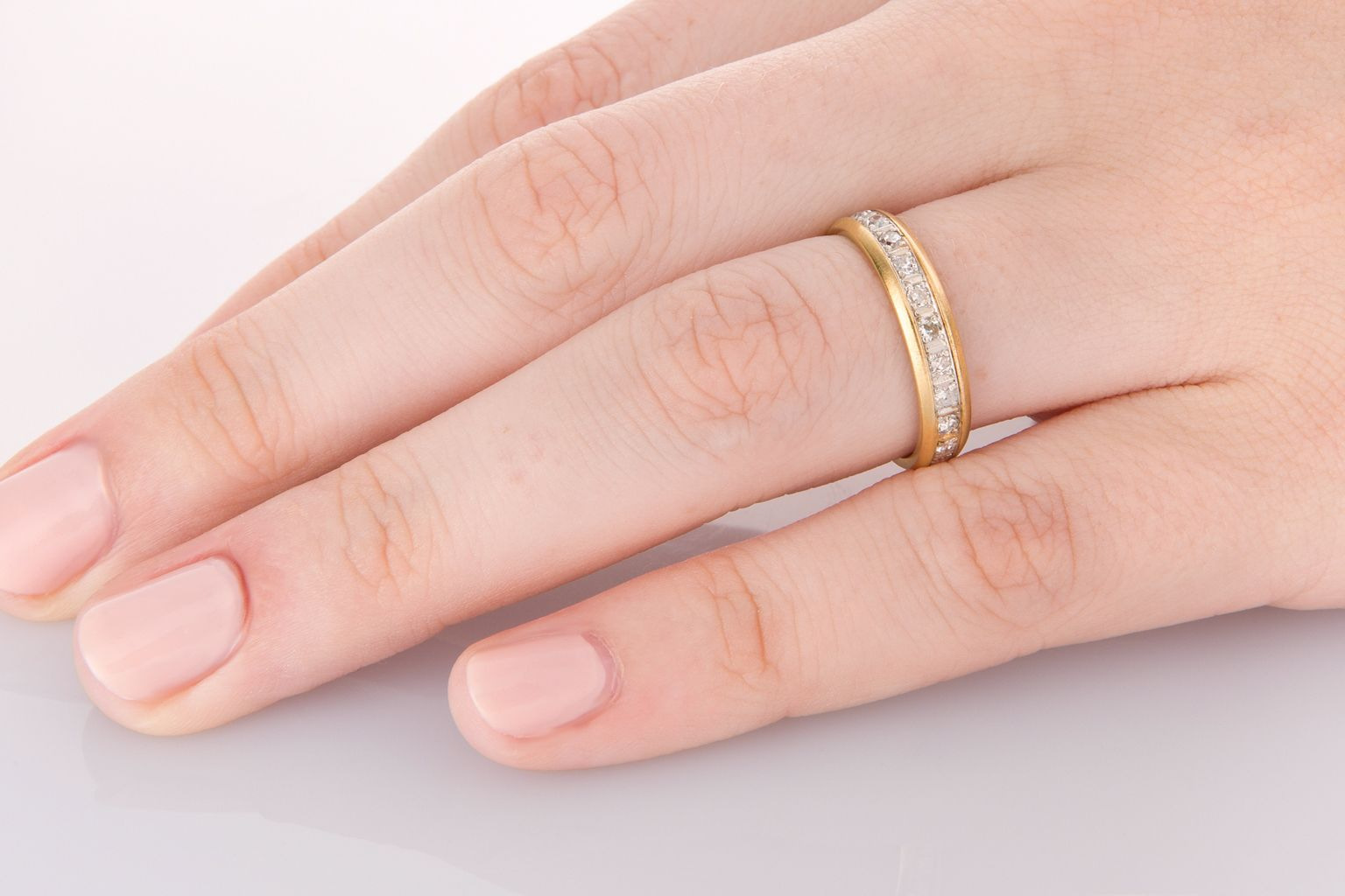 Vintage diamond eternity/wedding band, classic look with a lovely ...