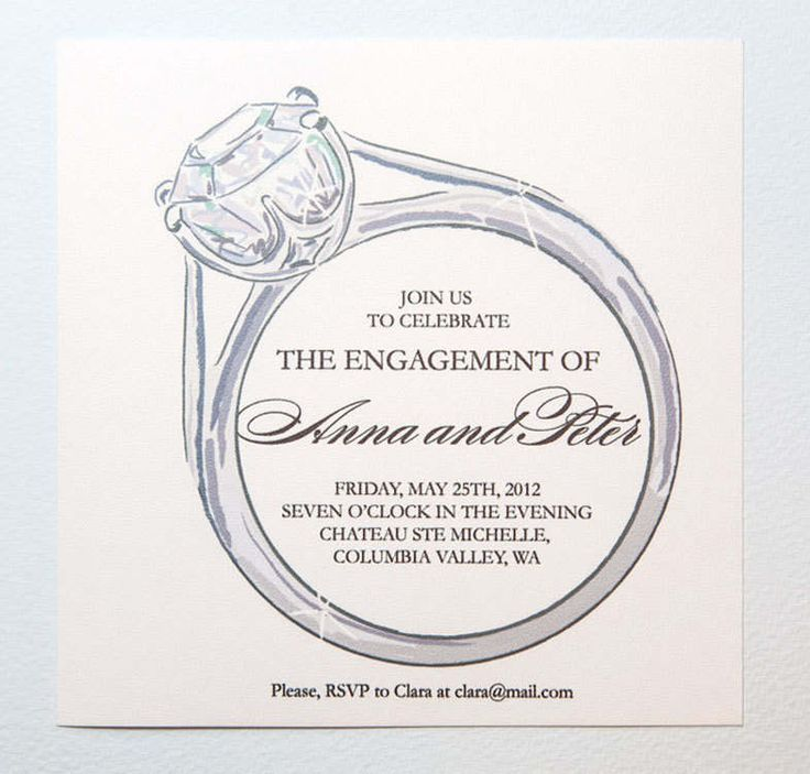 Free Printable Engagement Announcement Cards BG Pinterest - engagement invitation words