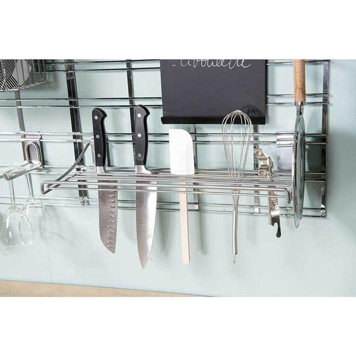 Ranger Ses Ustensiles De Cuisine kit de rangements muraux cuisine argent grand modèle
