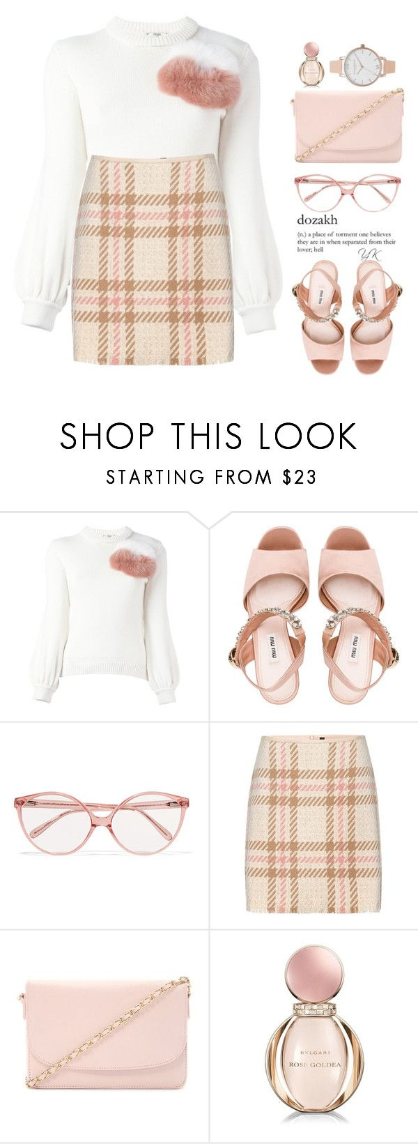 """""""Lush For Life"""" by youryulianna ❤ liked on Polyvore featuring Fendi, Miu Miu, Prism, MARC CAIN, Forever 21, Bulgari and Olivia Burton"""
