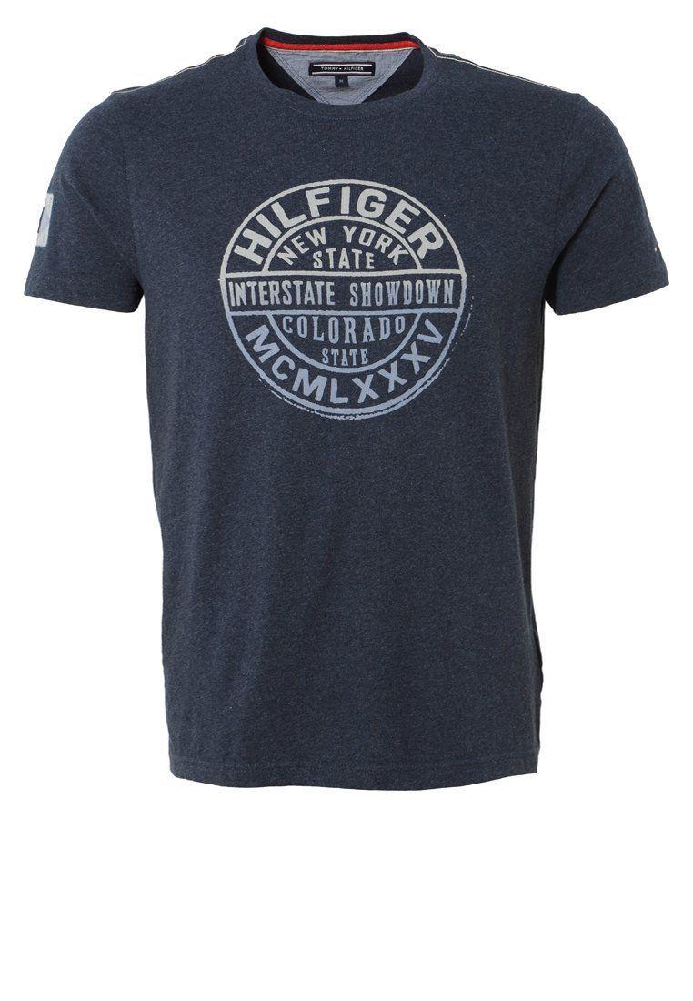6e14c64e Tommy Hilfiger BOB - T-Shirt print - dark blue - Zalando.de | T ...