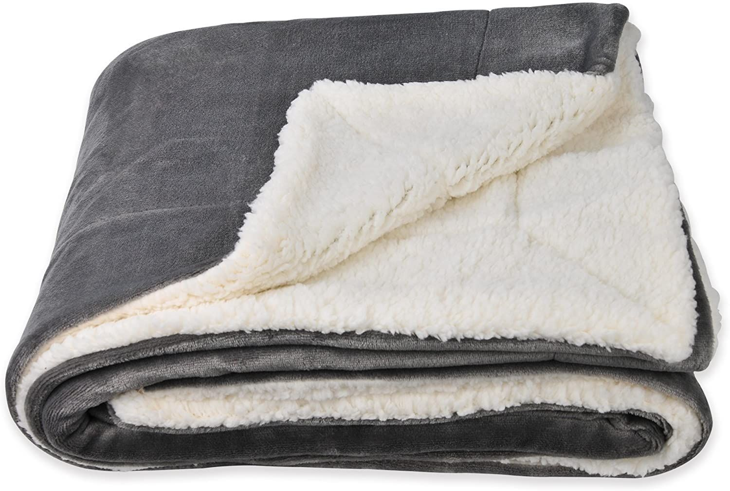 Sochow Sherpa Fleece Throw Blanket Double Sided Super Soft Luxurious Plush Blanket Throw Size Grey Plush Blanket Fleece Throw Blanket Twin Blanket What is a sherpa blanket