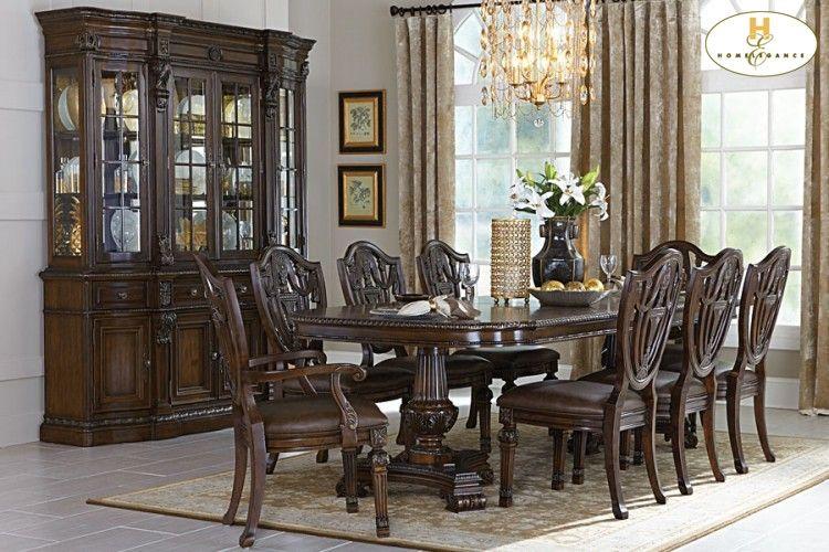 Homelegance Inc Antique Table Duncan Phyfe Double Pedestal