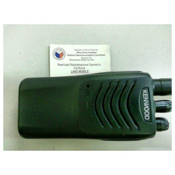 無線機 と#フィリピン の許可証 #radio and #prmit #firefighter