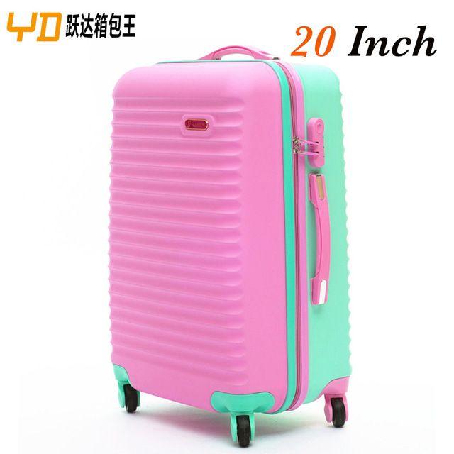 513e4cfa6 2015 boa qualidade Hardside bagagem mulheres sacos de viagem bagagem de  preço de cores ABS carrinho de bagagem mala 807