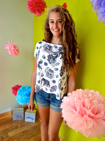Elephant print t-shirt – Tash Boutique