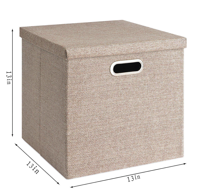 18 Amazon Com Perber Storage Basket Foldable 13x13x13 Cube Organizers Bin Clothes Toys Fabri Fabric Storage Boxes Collapsible Storage Cubes Fabric Storage