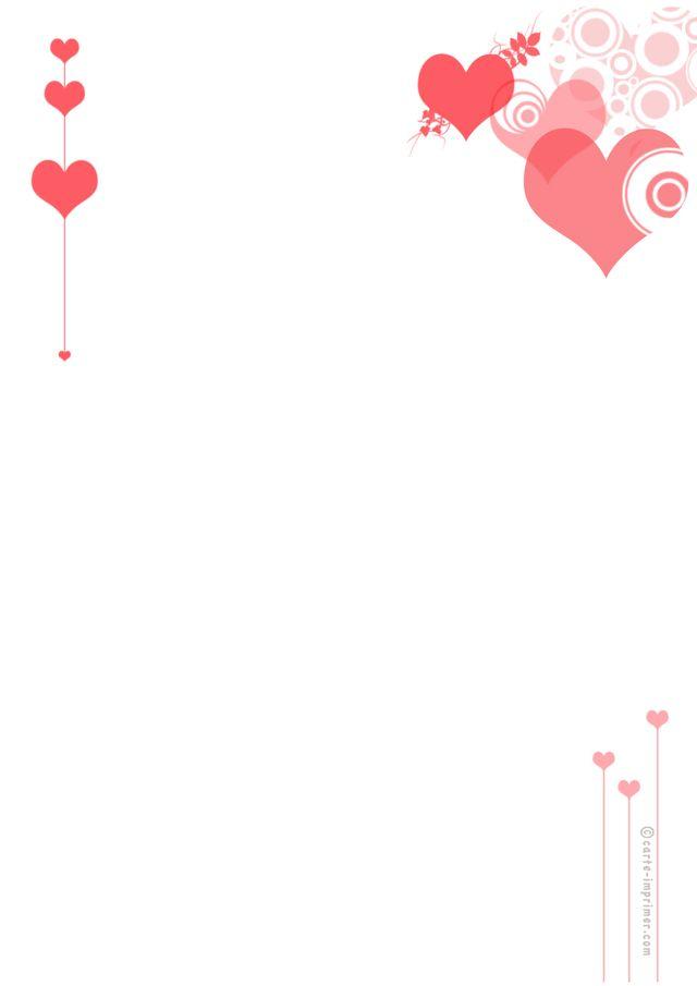 St Valentin Avec Images Papier A Lettre Imprimable Papier A
