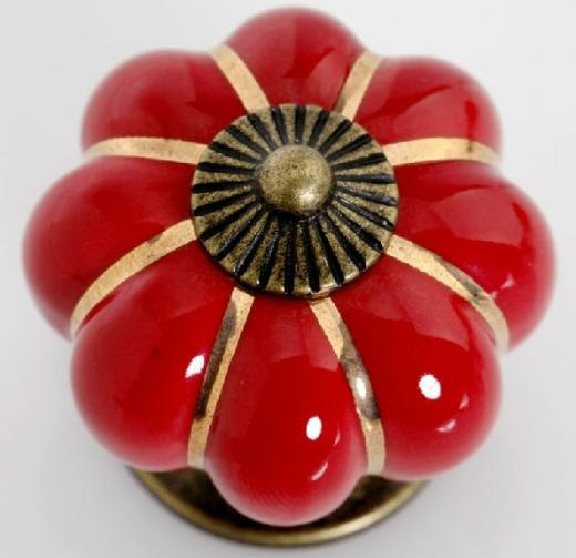 Attractive Red Kitchen Cabinet Knobs Pulls Handles Ceramic / Dresser Knob / Drawer  Knobs Pull Handle Antique Bronze Vintage Furniture Hardware Pumpkin