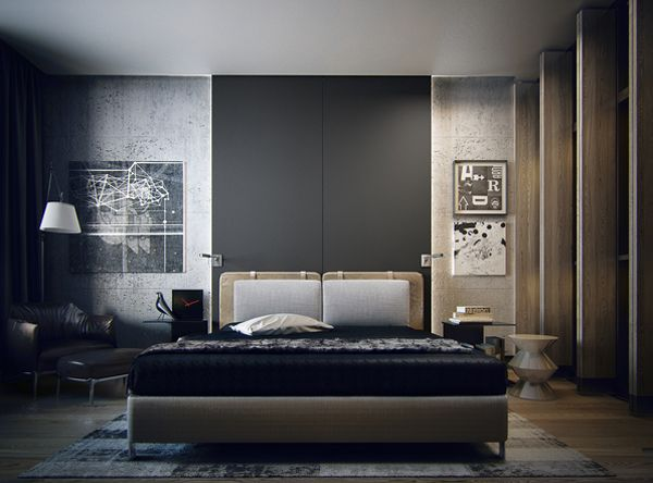 Masculine Apartment Ideas: Contemporary Art by KO KO Architects ...