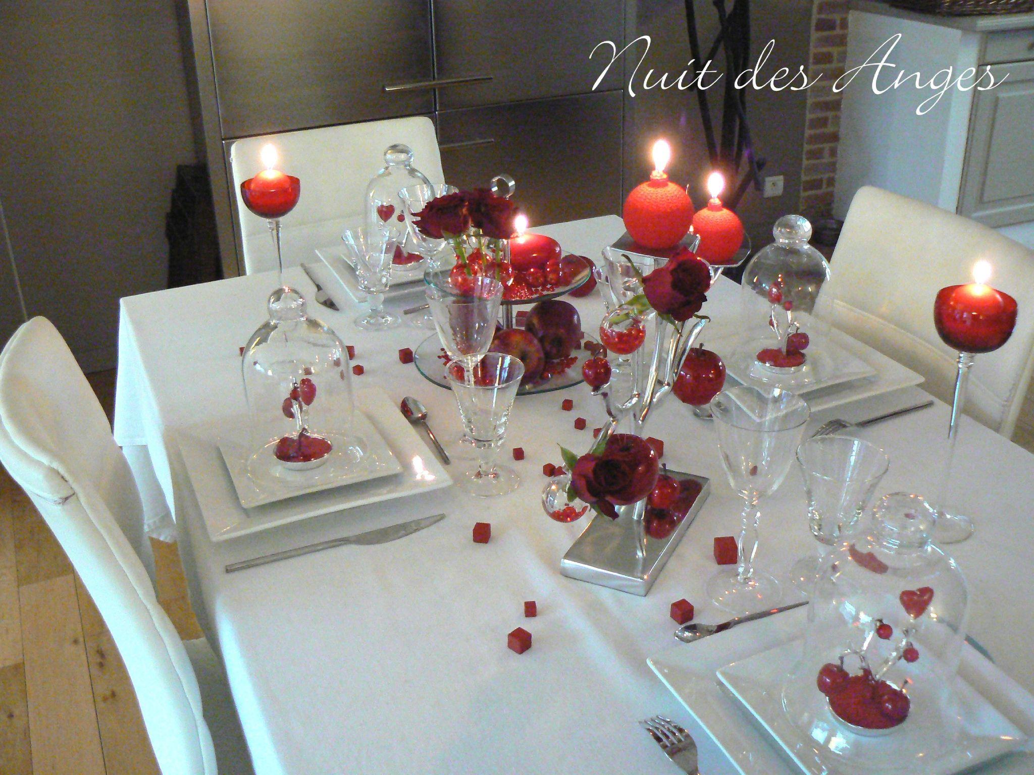 Nuit Des Anges Décoratrice De Mariage Décoration De Table Rouge Pomme  Du0027amour 002
