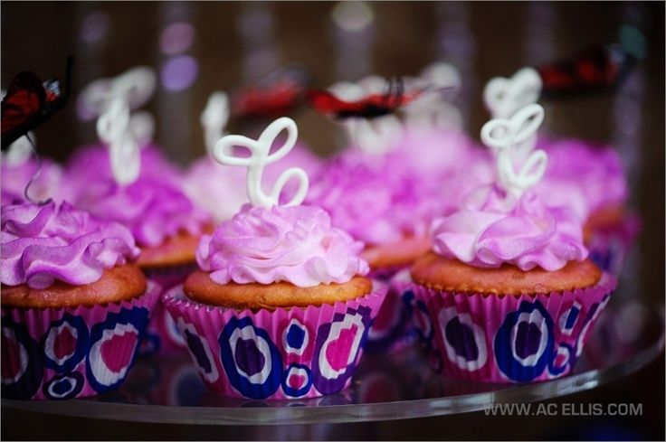 pink and purple girls sweet 16 birthday party with butterflies