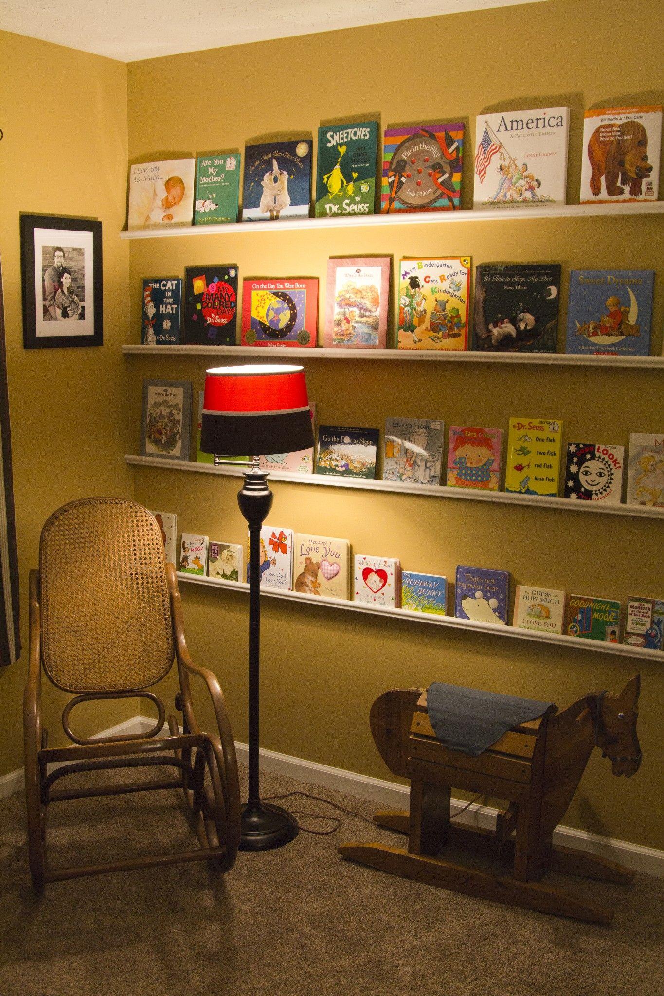 Baby Room Wall Art/ Space Saver Bookshelves (Materials: Four 1x2x8