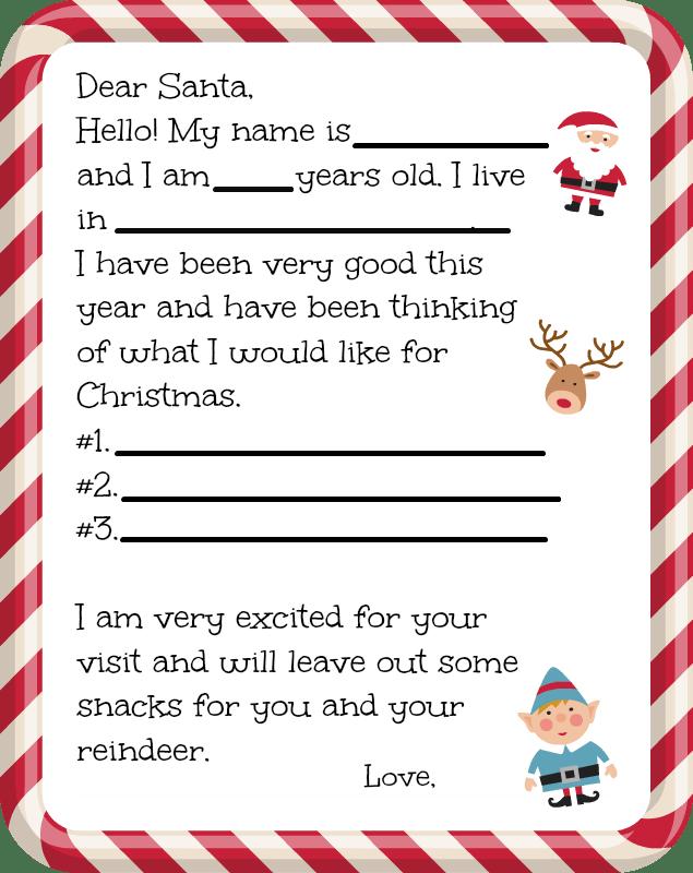 Free Letter To Santa Free Printable Santa Letters Santa Letter Template Santa Letter Printable