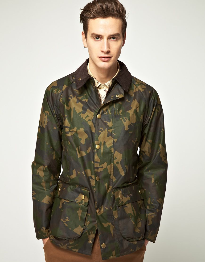 3c02d79b92f Barbour Bourne Camo Waxed Jacket