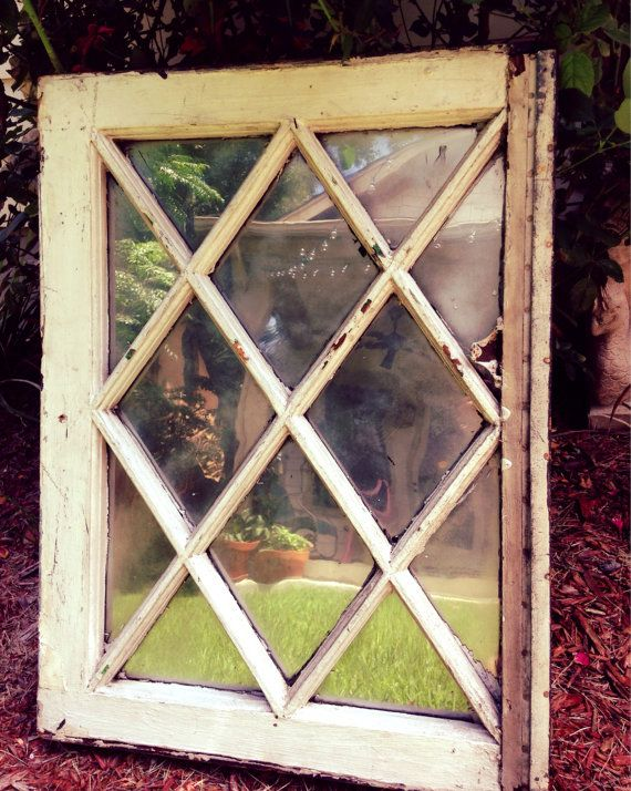 Mirror Salvage Window With Criss Cross