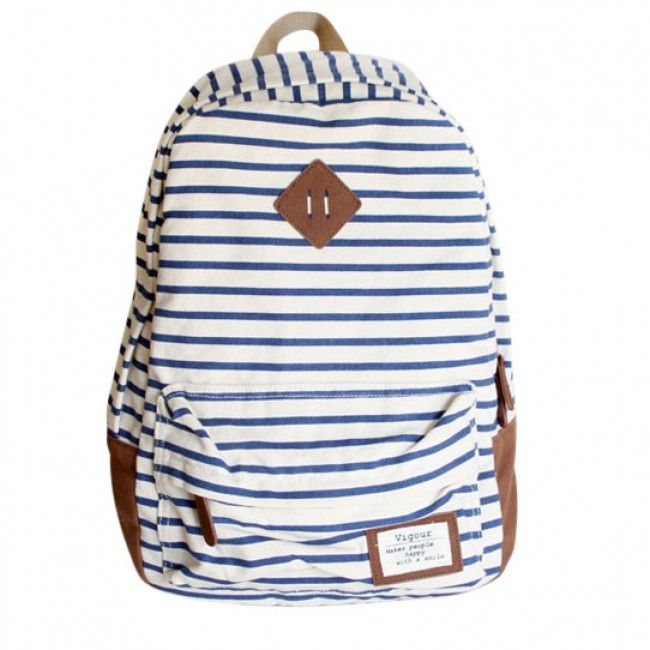 6a34a33c3b1 Cute Striped Canvas Printing Backpack School Bag For Teenagers Girls  College Mochilas Women Casual Back Pack Satchel Bagpacks