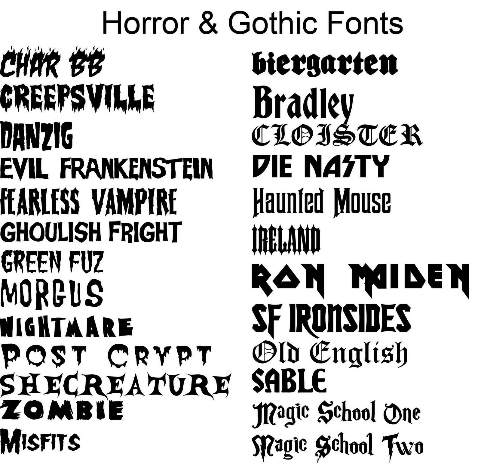 Horror Fonts    Font Like This Http Www Dafont Com Tattoo