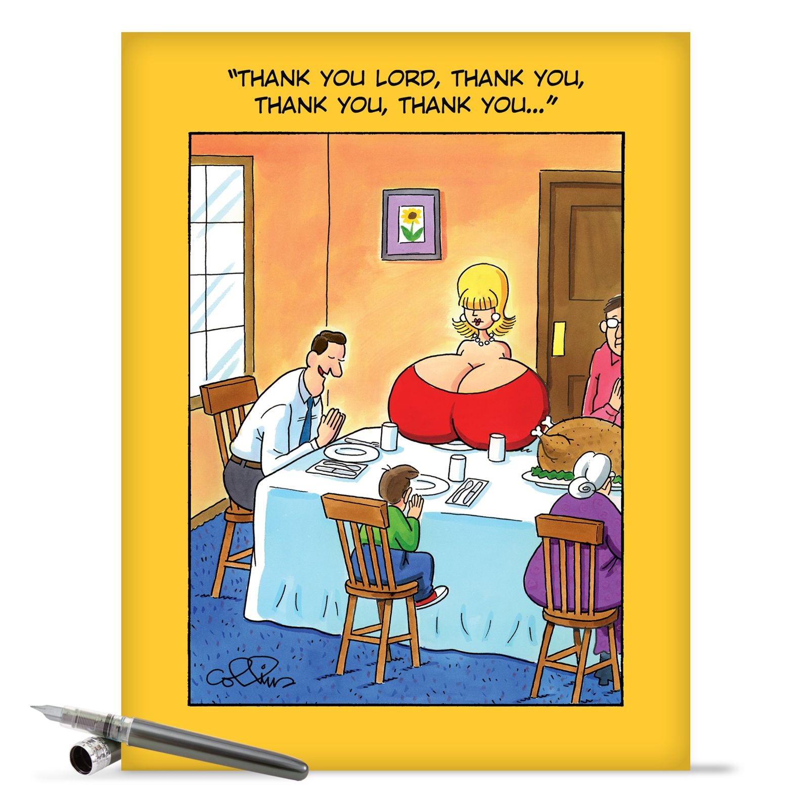 J8420 Jumbo Funny Birthday Card Thank You Lord With Matching