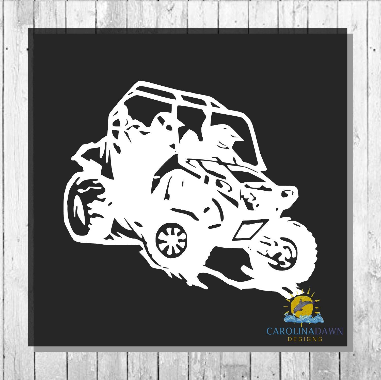 Excited To Share This Item From My Etsy Shop Side By Side Atv Mud Buggy Atv Utv Mud Bog All Terrain Hunt Initials Decal Monogram Stickers Monogram Decal
