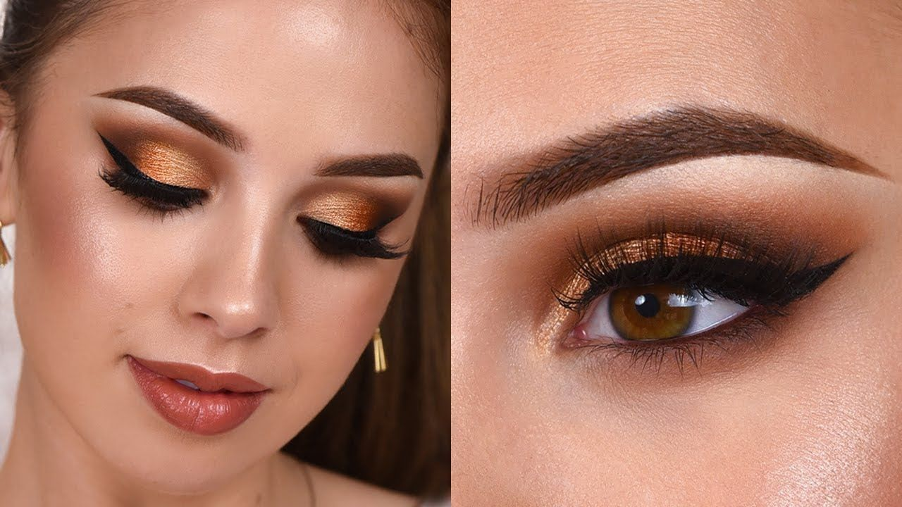 Glam Grwm Gold Shimmery Smokey Eye Makeup Tutorial With Images