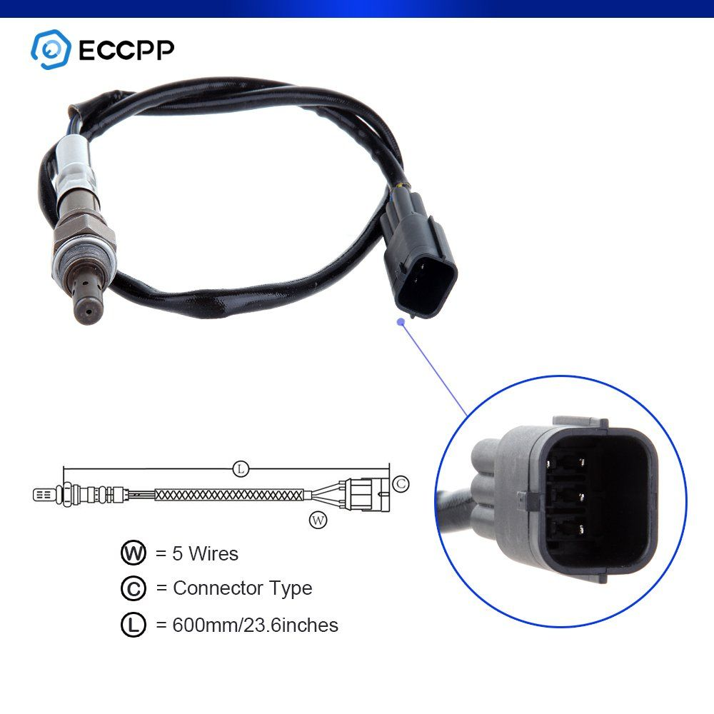 ECCPP Air-Fuel Ratio Oxygen Sensor Upstream//Pre Fit 234-9038 4-Wire Air Fuel Ratio Sensor for Nissan Altima Frontier 2.5L