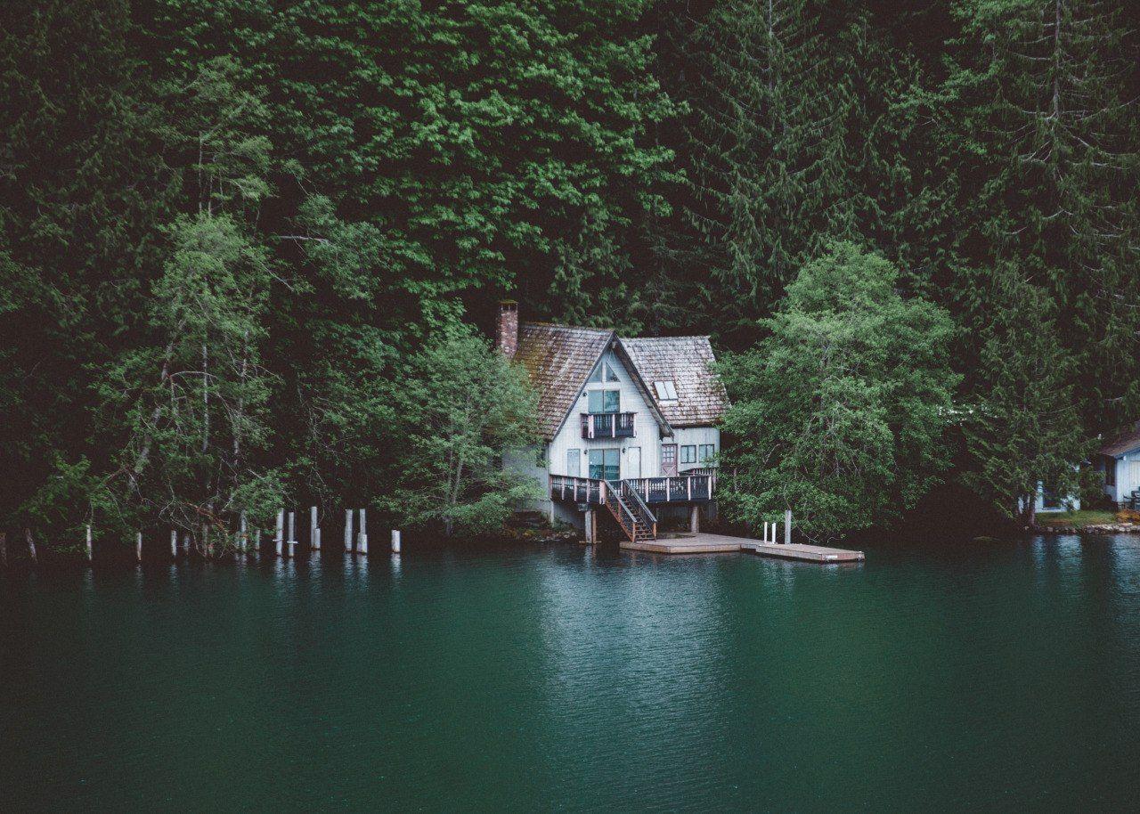 Living On A Lake : Lake Crescent, Washington;House; Home; woods; cabin ...