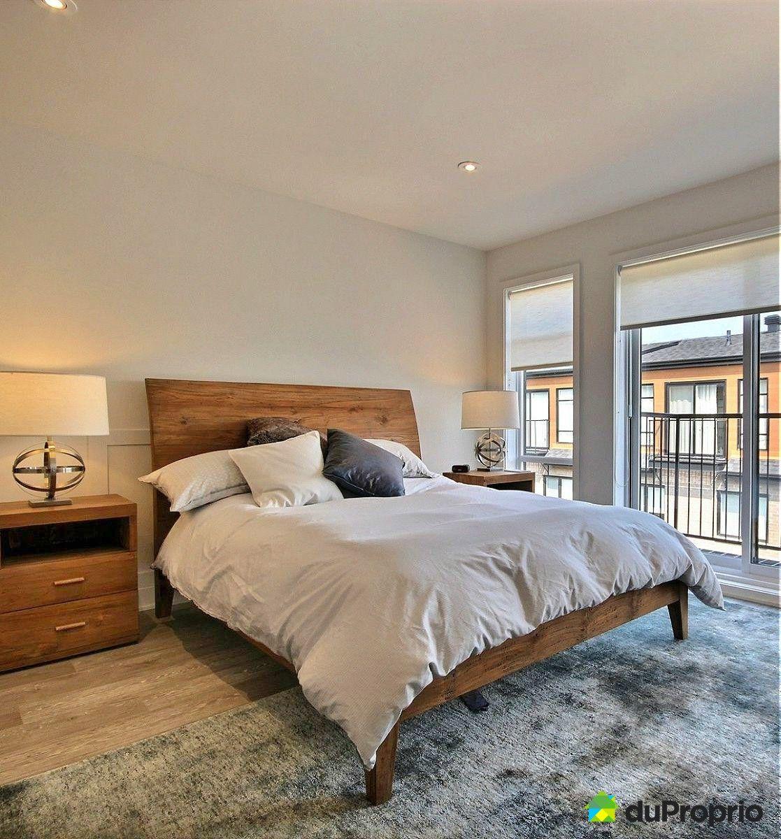 Chambre style contemporain et rustique quelle beau lit en for Chambre rustique