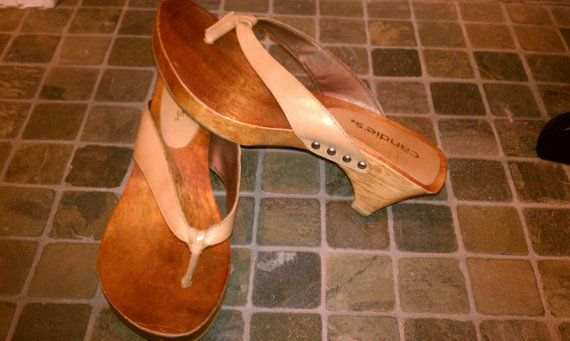 Vintage Candies Wooden Clog Shoessandals Size 7 The Glass