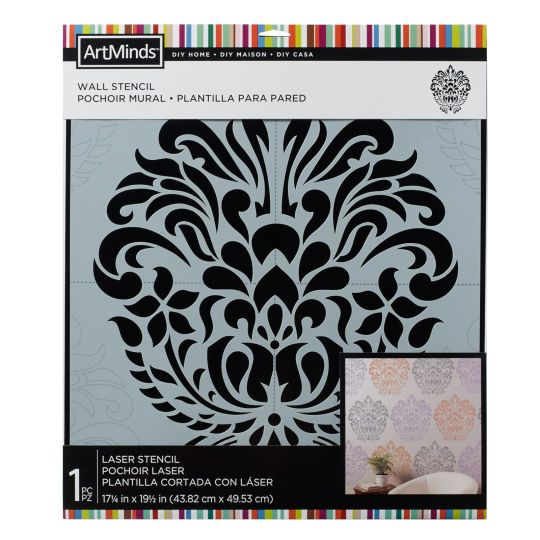 Diy Home Damask Wall Stencil By Artminds Damask Wall Stencils