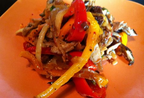 Pan grilled vegetable salad