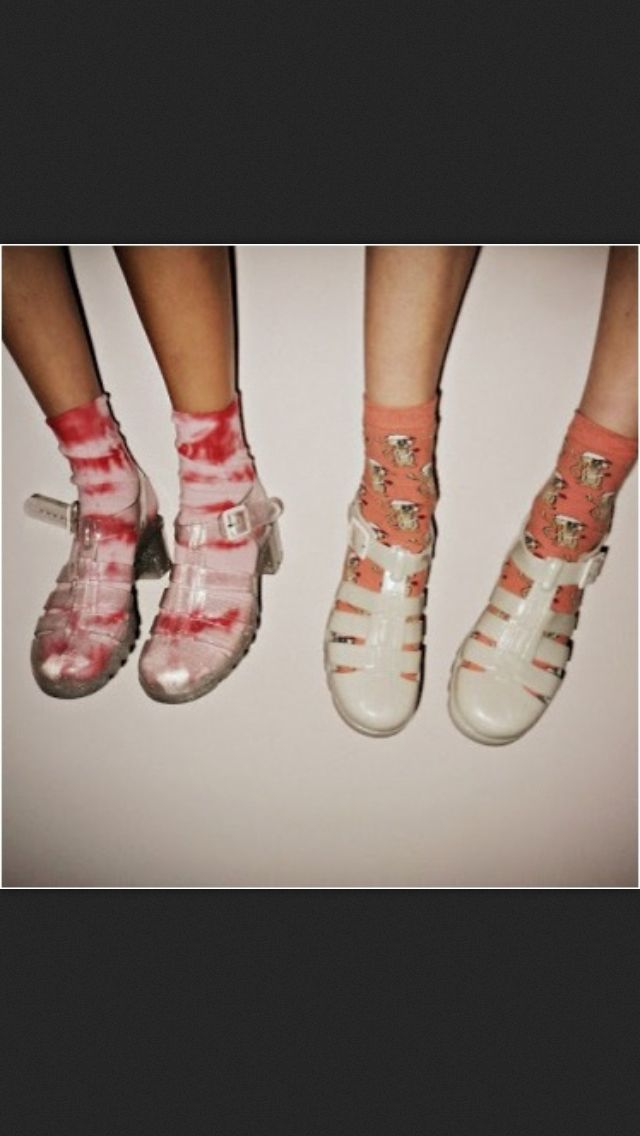 c35da86585f7 Jelly shoes and socks I used to have white ones like these....my mum would  wash them every night!