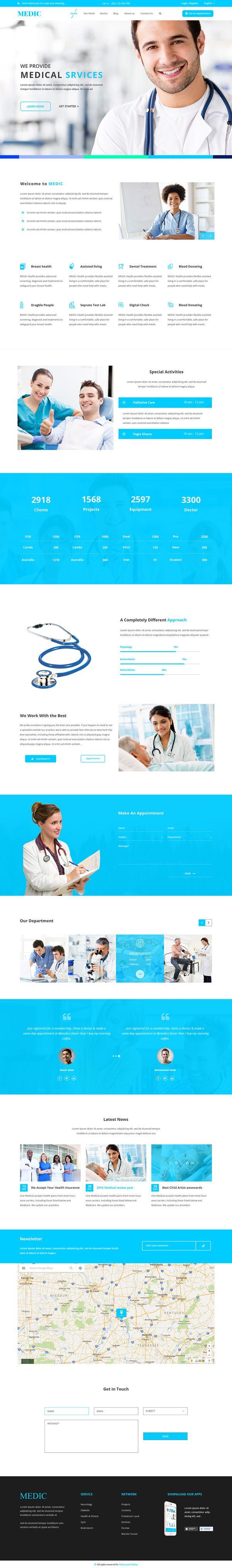 Free Medical Website Template Psd Healthcare Templates Dental