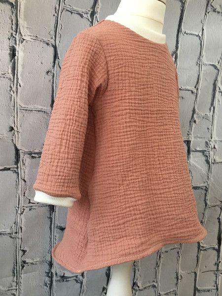 Kleider - Musselin Kleid 92 Peach Pfirsich Nude - ein Designerstück ...