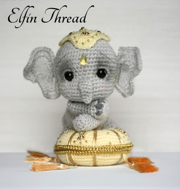 Elil the Chibi Elephant amigurumi pattern by Elfin Thread | Puntadas ...
