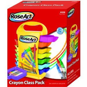 RoseArt Crayon Classpack Caddy with 208 Crayons, Assorted Colors, Packaging May Vary (40258UA-1)