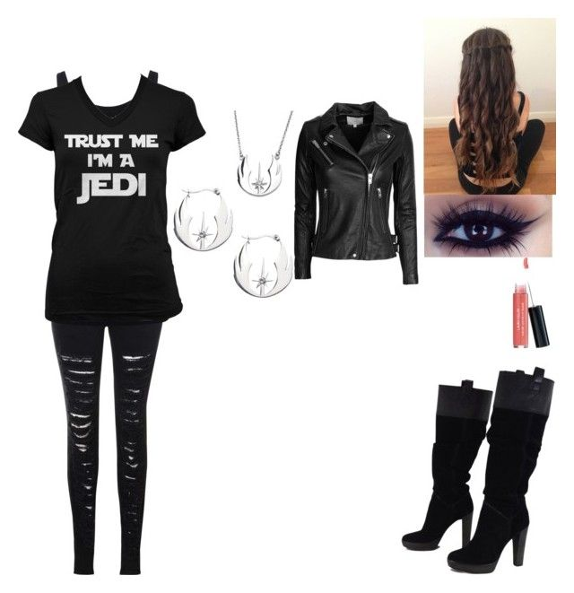 """Going to Star Wars: The Force Awakens"" by whitewolf17 ❤ liked on Polyvore featuring Charlotte Russe, Glamorous, Juvia, BCBGMAXAZRIA, Laura Geller and IRO"
