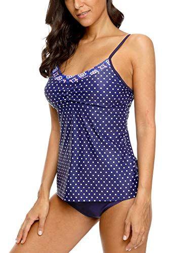c818323476 Vegatos Women's Crossback Tankini Set Swimsuits Two Piece Padded Bathing  Suits, #Ad #Tankini