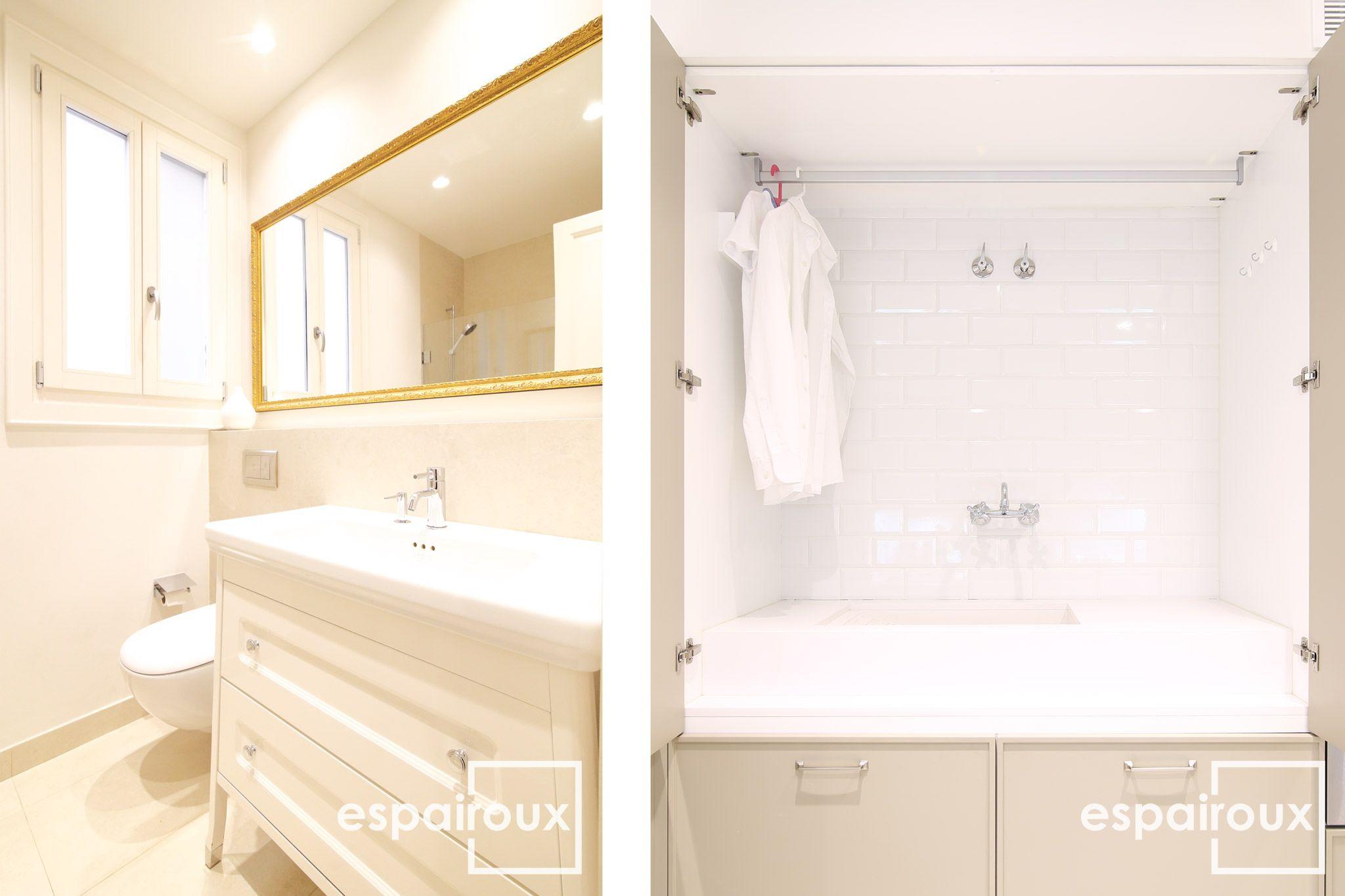 Detalle de un ba o y de el lavadero integrado en la for Cocina y lavadero integrados