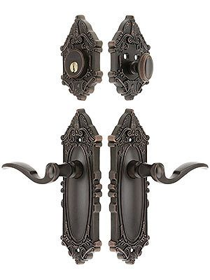 Antique Door Hardware Grandeur Grande Victorian Entrance Set With Bellagio Levers