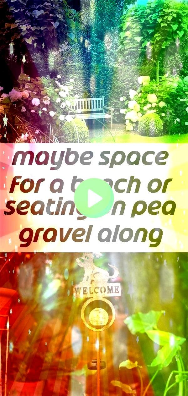 for a bench or seating on pea gravel along north fence 2 Maybe space for a bench or seating on pea gravel along north fence My Favorite Hello Solar Garden Light Post land...