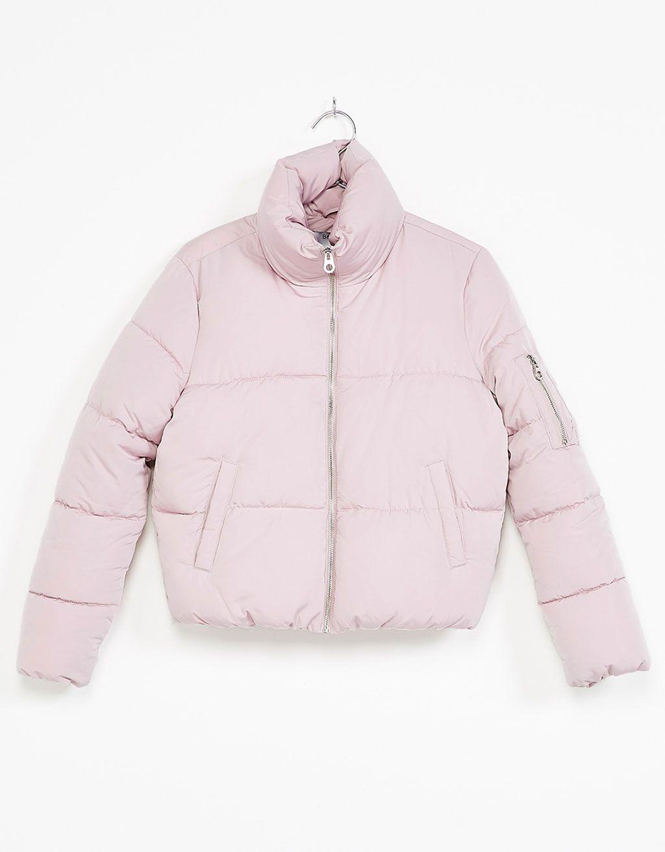 34ab049337c Funnel collar puffer jacket - New - Bershka Spain